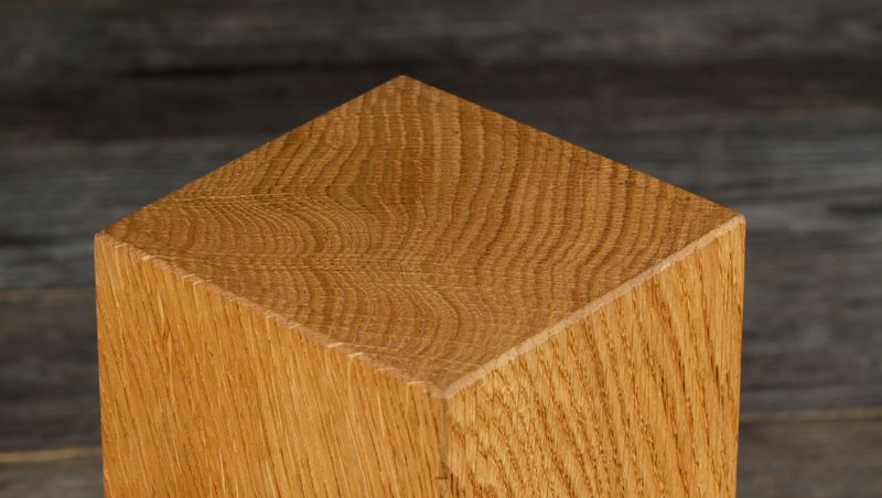 knife block rotatable - oak, for 5 knives