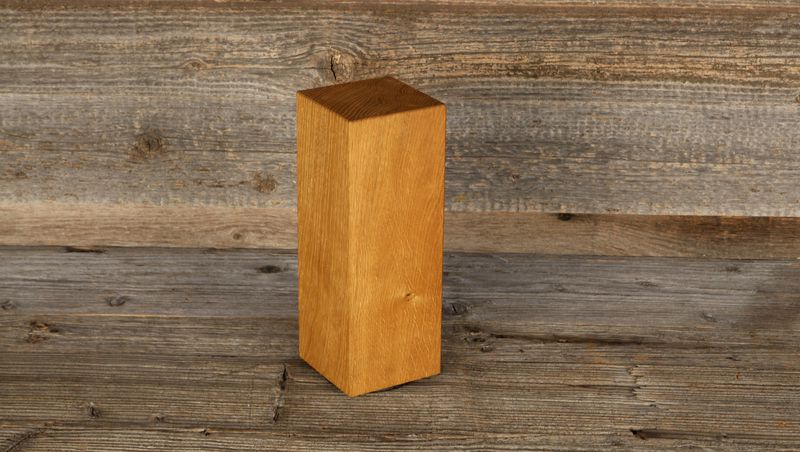 knife block -  rotatable made from local oak