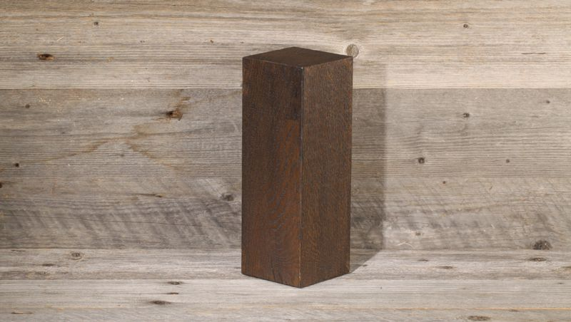 knife block rotatable - made from local oak (dark oiled)