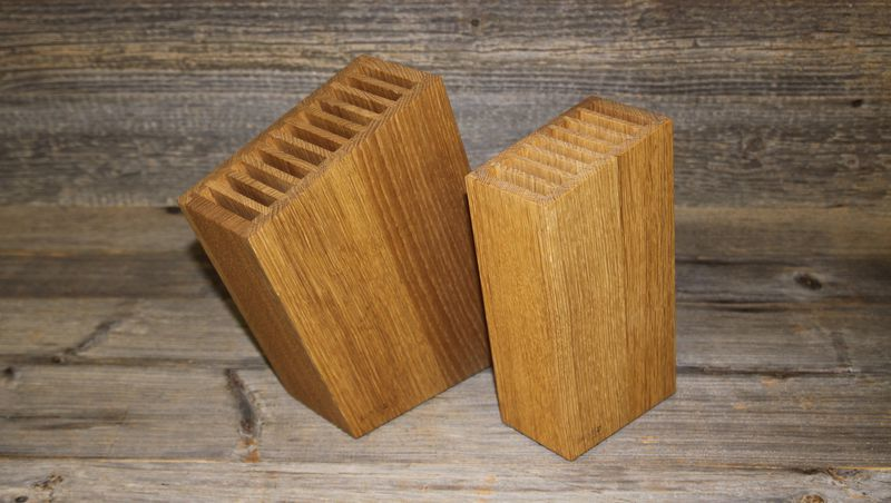 knife block oak - small and large