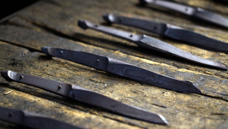 swiss knife - steak knife roughly forged